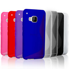 Slim Gel Case Soft Thin S Curve TPU Cover + Screen Protector for HTC One M9
