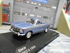 BMW 2002 ti 2002ti hell blau blue met 1968 runde Rückleuchten IXO White Box 1:43