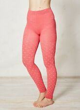 Braintree Orange Pink Fleur Patterned Footless Tights Bamboo Cotton Spandex Soft