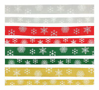 Grosgrain Christmas Ribbon 3 metres - Snowflake design