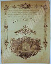 Gravur 1745 Feste strasbourg louis xv Jean-martin Weis & marvye g