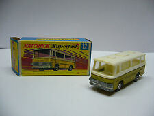 Matchbox  Superfast-  MB 12 - Setra Coach- gold   - Made in England