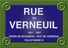 PARIS PLAQUE de RUE VERNEUIL Serge GAINSBOURG 20x30 cm ALU