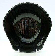 Vintage Retro French Arcoroc Black Glass Clam Shell Dish Bowl