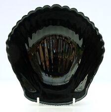 Vintage Retro French Arcoroc Black Glass Clam Shell Dish Bowl