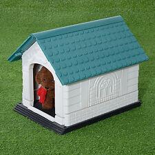 Deluxe Large Plastic Folding Dog House w/Door Outdoor Indoor Pet Shelter Kennel