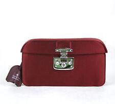 $990 New Authentic Gucci Satin Lady Lock Evening Clutch Bag Burgundy 331825 6160