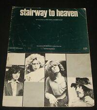 LED ZEPPELIN SHEET MUSIC ~  STAIRWAY TO HEAVEN  - 1970s HARD ROCK