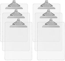 Trade Quest Plastic Clipboard Transparent Color Letter Size (Pack of 6) (Clear)