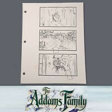 THE ADDAMS FAMILY - Production Used Storyboard - Thing Knocking on Door at Camp