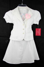 Vestidos de niña de 2 a 16 años de manga corta blancos de poliéster