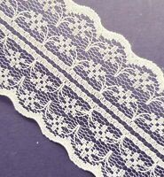 Cream Vintage Lace Ribbon Wedding Trim 1m x 45mm Wide For Card Craft Sewing