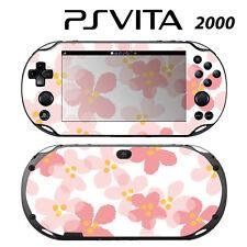 Vinyl Decal Skin Sticker for Sony PS Vita Slim 2000 Sweet Floral Pink