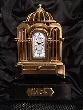 Bulova Lot of 1Miniature MiniBoutique B0011Voliere Bird Cage Collectible Clock.