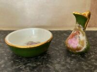 VINTAGE LIMOGES FRANCE MINIATURE JUG & BOWL SET GOOD CONDITION FOR AGE