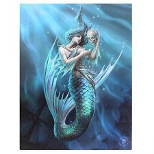 Anne Stokes Gothic Sailers Ruins Mermaid 25cm x 19cm Canvas Print