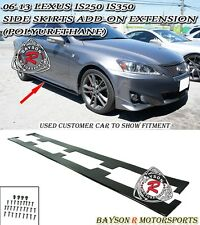 Side Skirts Add-on Extension Splitters (Urethane) Fits 06-13 Lexus IS250 IS350