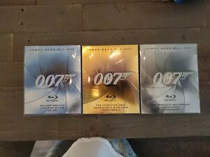 James Bond Blu-ray Volumes 1,2 and 3 - 9 Movies