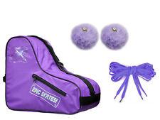 New! EPIC Skates Purple Roller Skate Accessory 3 Pc. Bundle Bag Laces & PomPoms