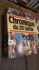 Chronique du 20ème siècle Larousse 1988