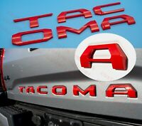 3D Tailgate Insert Letters fits 2016-2021 Toyota Tacoma (Red)
