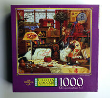 Charles Wysocki 1000 Piece Jigsaw Puzzle SEW, SEW RELAXING Complete!!
