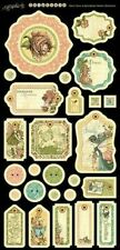 Graphic 45 Once Upon a Springtime Chipboard and Sticker Set