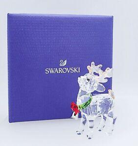 New SWAROVSKI 5532575 Holidays Santa's Reindeer Figurine Deco Display Collector