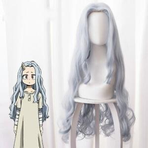 My Hero Academia Eri Cosplay Wig Long Gray Curly Wave Hair Full Wigs+Wig cap