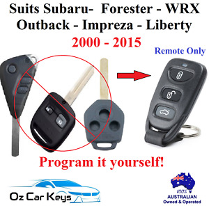 Suits Subaru Forester Liberty Impreza WRX Outback Remote Only No Key 2000 - 2015