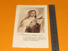 CHROMO 1910-1920 CATHOLICISME IMAGES PIEUSES STE THERESE ENFANT JESUS