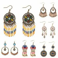Retro Ethnic Boho Dangle Drop Hook Earrings Women Bridal Wedding Party Jewelry