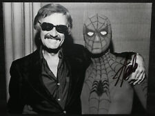 Stan Lee with Spider-Man Autographed Vintage Photo - Signed