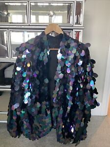 Primark Sequin Cape and Matching Top Size 10