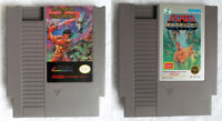 Wizards and Warriors & Ikari Warriors Nintendo NES Games CART ONLY