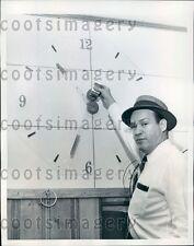 1959 Atlanta GA Clockmaker Shows Off Latest Clock Invention Press Photo