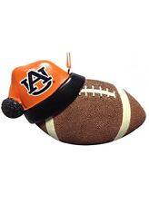 """Auburn Tigers Santa Hat with Football Ornament 4.25"""""""