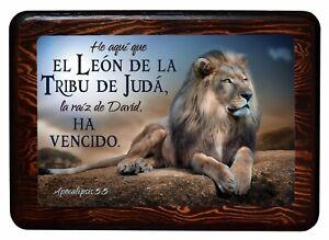 El León De La Tribu De Judá, Cuadros Cristianos, Brilloso