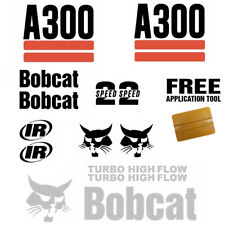 Bobcat A300 Skid Steer Set Vinyl Decal Sticker 15 PC SET + FREE DECAL APPLICATOR