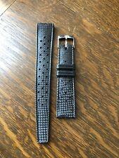 Vintage NOS Reloj de buceo correa de caucho 19mm (1960/70s) estilo Tropic perforado