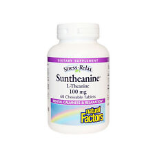 Natural Factors Stress-Relax Suntheanine L-Theanine, 60 Chewable Tablets