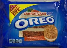 NEW NABISCO FAMILY SIZE CARROT CAKE OREO CREAM CHEESE FROSTING CREME 17 OZ PACK
