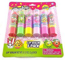 New Arrive Girls Shopkins Lip Balm 6 Pack