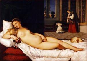 Tiziano Vecellio Venus of Urbino Poster Reproduction Giclee Canvas Print