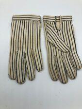 New listing Vtg Le Gant Hermes Wear Right Usa Blue White Abstract Geometric Print Gloves
