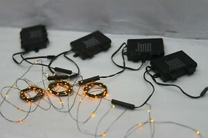 Bethlehem Lights S/4 Indoor/Outdoor 10' Fairy Lights AMBER $38