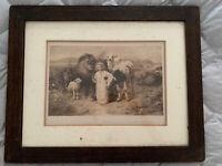 "William Strutt Peace ""A Little Child Shall Lead Them"" 1896 Print/Original Frame"