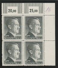 Nazi Germany Hitler Head (4) Block Plus Tabs Mint Never Hinged MNH Stamps O