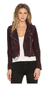 BLANK NYC New Women's Suede Moto Jacket In Morning After Size Medium #I