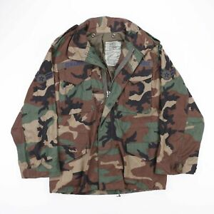 Vintage ALPHA INDUSTRIES US AIR FORCE Field Camo Cold Weather Jacket Mens Small